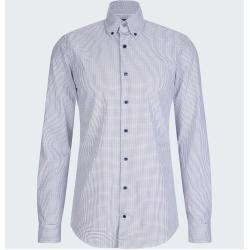 Slim fit shirts for men -  Svenn button-down shirt – Easy Iron, white patterned StrellsonStrellson S...