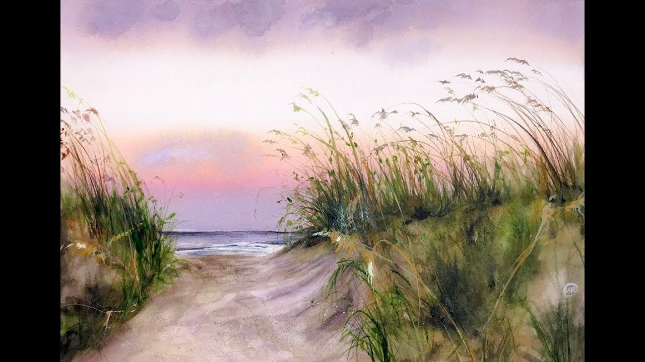 Seaside Watercolor Painting Demonstration Youtube Seaside