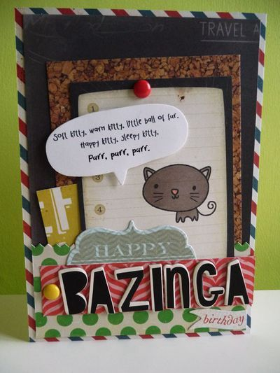 My Big Bang Theory birthday card featuring of course Soft Kitty – Big Bang Theory Birthday Card