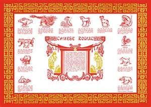 Chinese Zodiac Place Mat Chinese Zodiac Signs Chinese Zodiac Chinese Paper