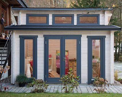 Wolff Stufendach Gartenhaus Langeoog 58C ISO Gartenhaus