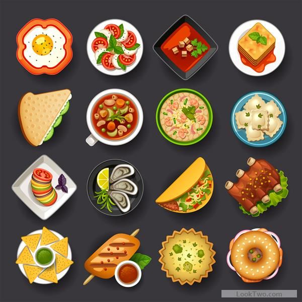 Dofferemt Food Icons Set Vector 01 Free Vector Download With