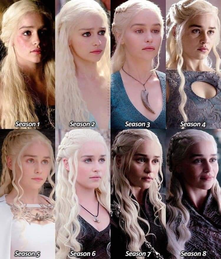 Daenerys All Seasons Look Taht Oyunlari Tv Dizileri Daenerys