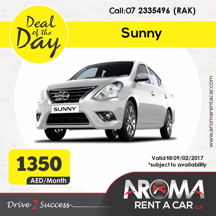 Rent A Car Monthly Aroma Rent A Car Offers Deal Of The Day Rak Sunny 09 02 2017 Rent A Car Car Rental Car