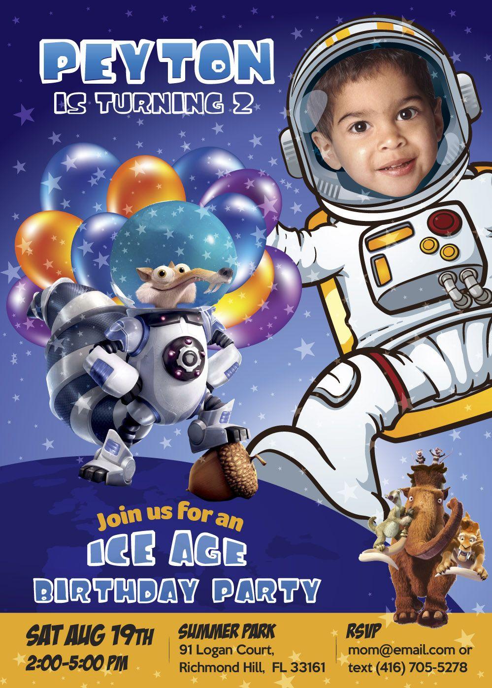 Astronaut Birthday Invitation. Astronaut Birthday Party