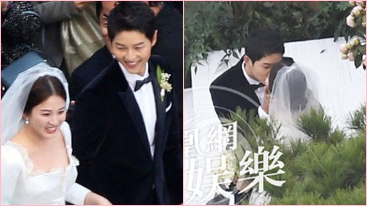 Full Wedding Ceremony Song Joong Ki Happily Kisses And