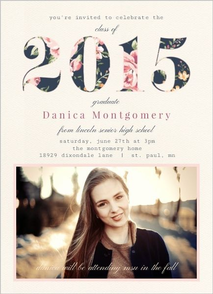 vintage floral year graduation invitation by httpinviteshopcom graduationpartyideas - Graduation Invitations Pinterest