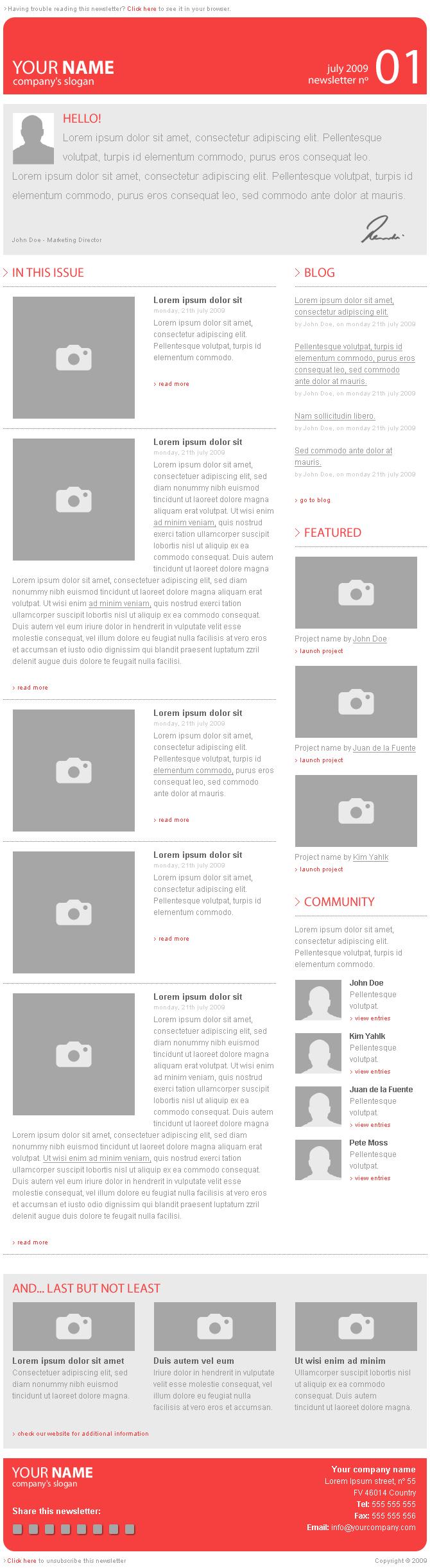e newsletter template digital design pinterest newsletter