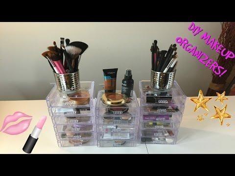 Diy Dollar Tree Makeup Organization Pink Girly Makeup Vanity