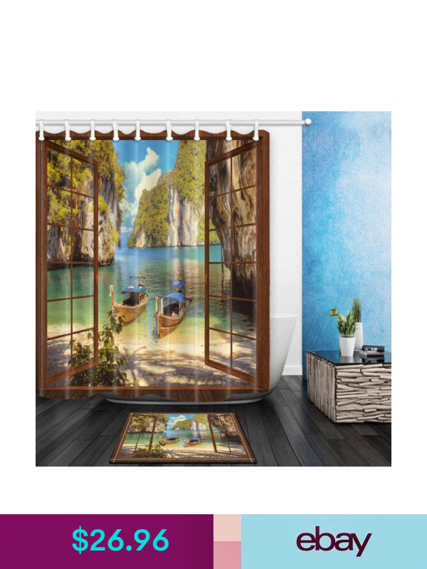 Shower Curtains Liners Ebay Home Garden With Images