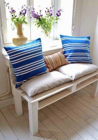 Como hacer un banco con palets para la casa o el jardín rincones - como hacer bancas de madera para jardin