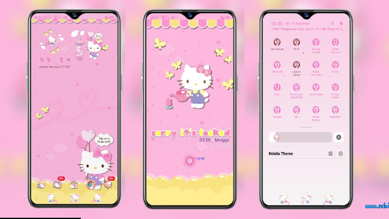 Tema Hello Kitty Pink Terbaru Untuk Oppo Coloros 6