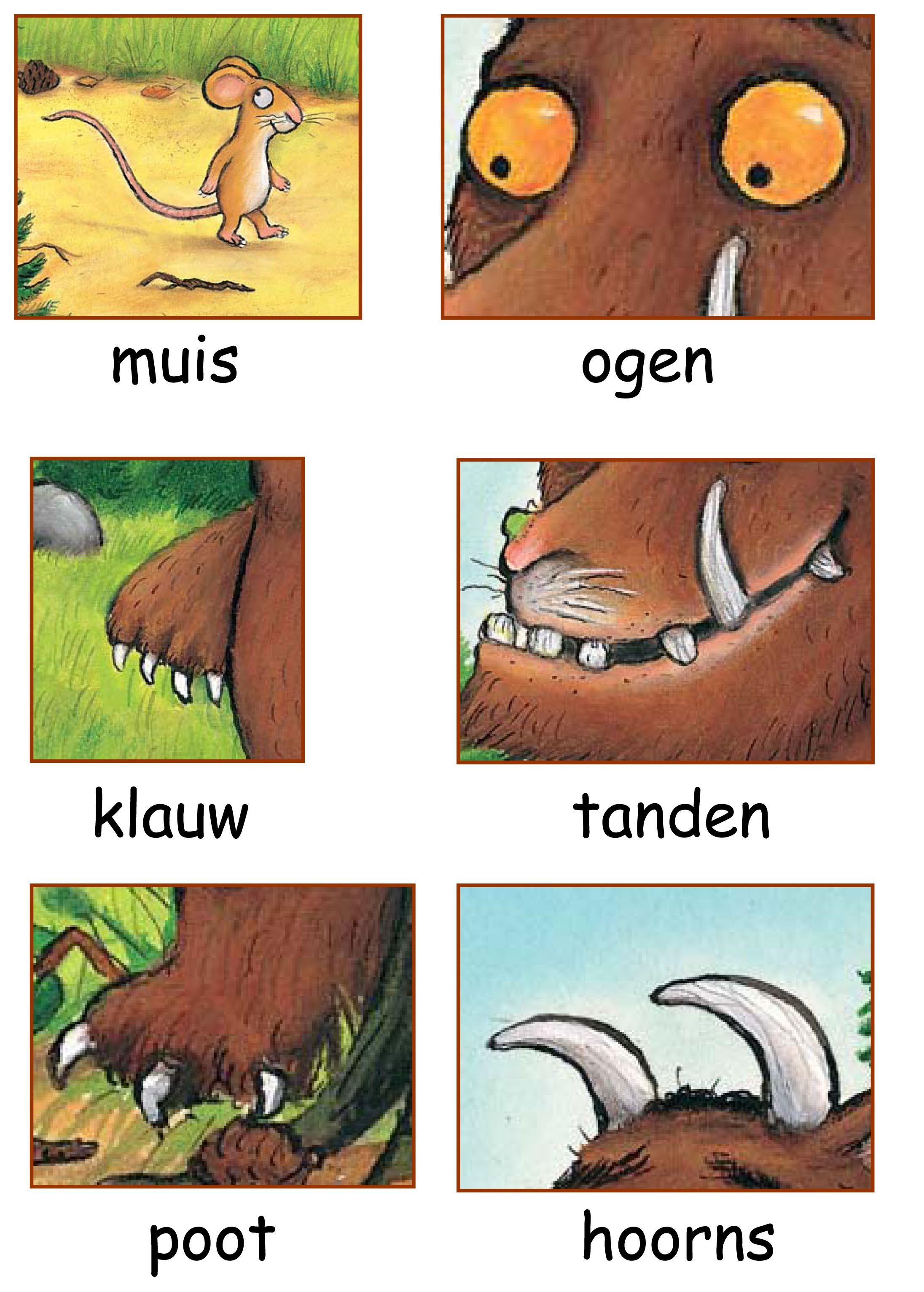 Woordkaarten De Gruffalo 2 2