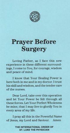 20 short but effective prayers for surgery inspirational nursing