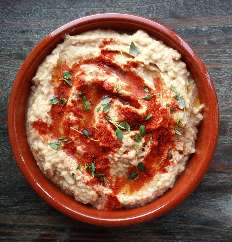 Oppskrift Hummus Hjemmelaget Hvordan Lage Kikerter Tahin
