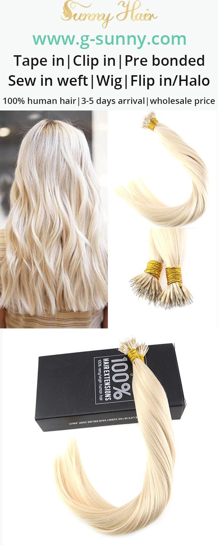 Sunny Hair 100 Remy Human Hair Micro Link Hair Extensions Nano