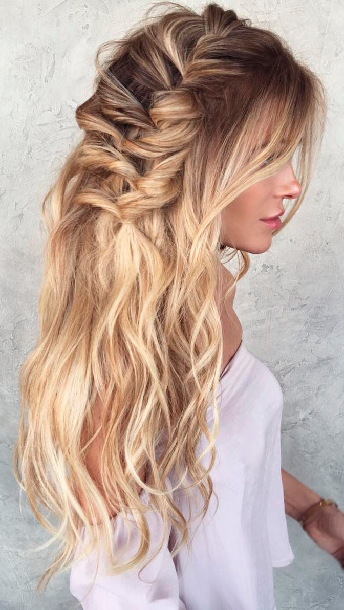 43 Peinados Para Damas De Honor E Invitadas De La Boda El Blog De Una Novia Peinados Con Cabello Suelto Peinados Peinados Boho