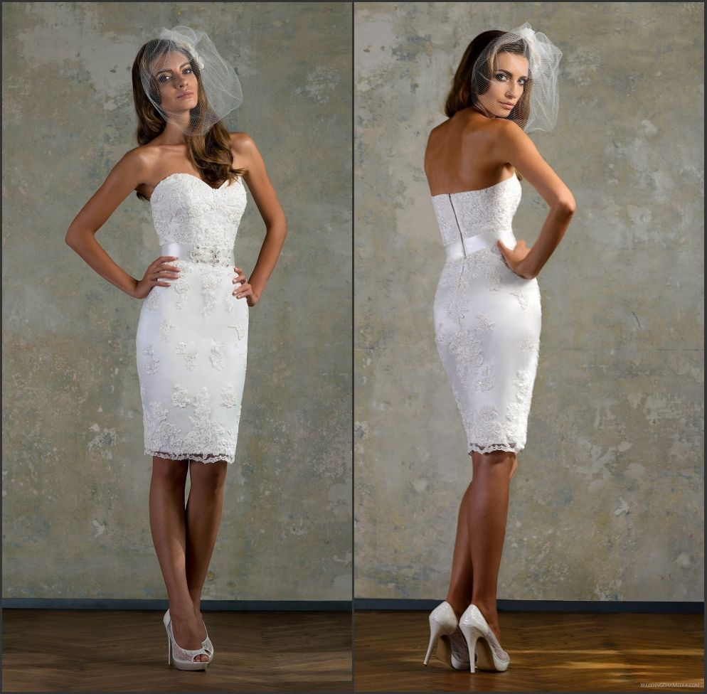Short Fitted Wedding Dress
