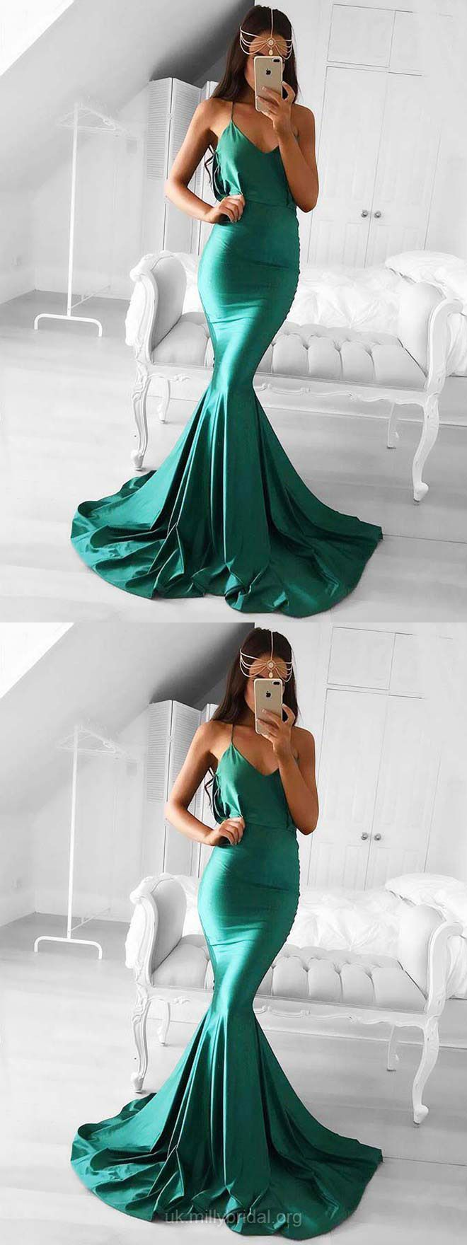 Long prom dresses mermaid green prom dresses teenagers prom