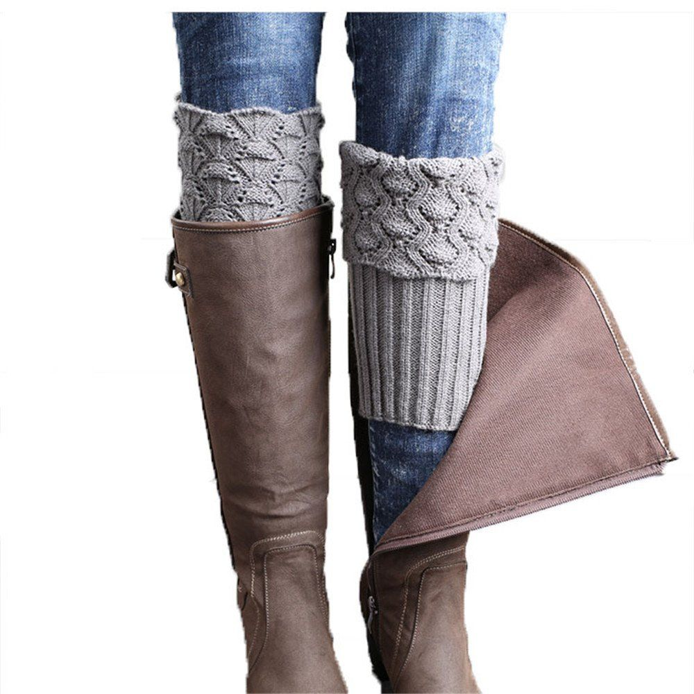 SDS Women's Leg Warmer Short Knit Boot Socks , Boots Cuffs (Gray 1). Short paragraph turned mouth boots cuffs. Size : 15 + 9CM ( turned mouth ). Material:Acrylic Fibres. Appropriate season :Spring and autumn and winter.
