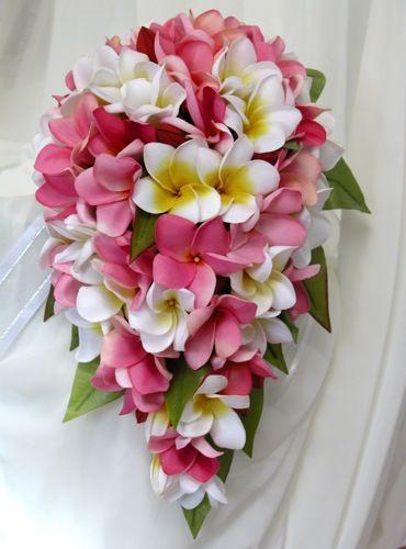 Lovely Plumeria Bouquet Hawaii Plumeria Bouquet Frangipani Wedding Wedding Flowers