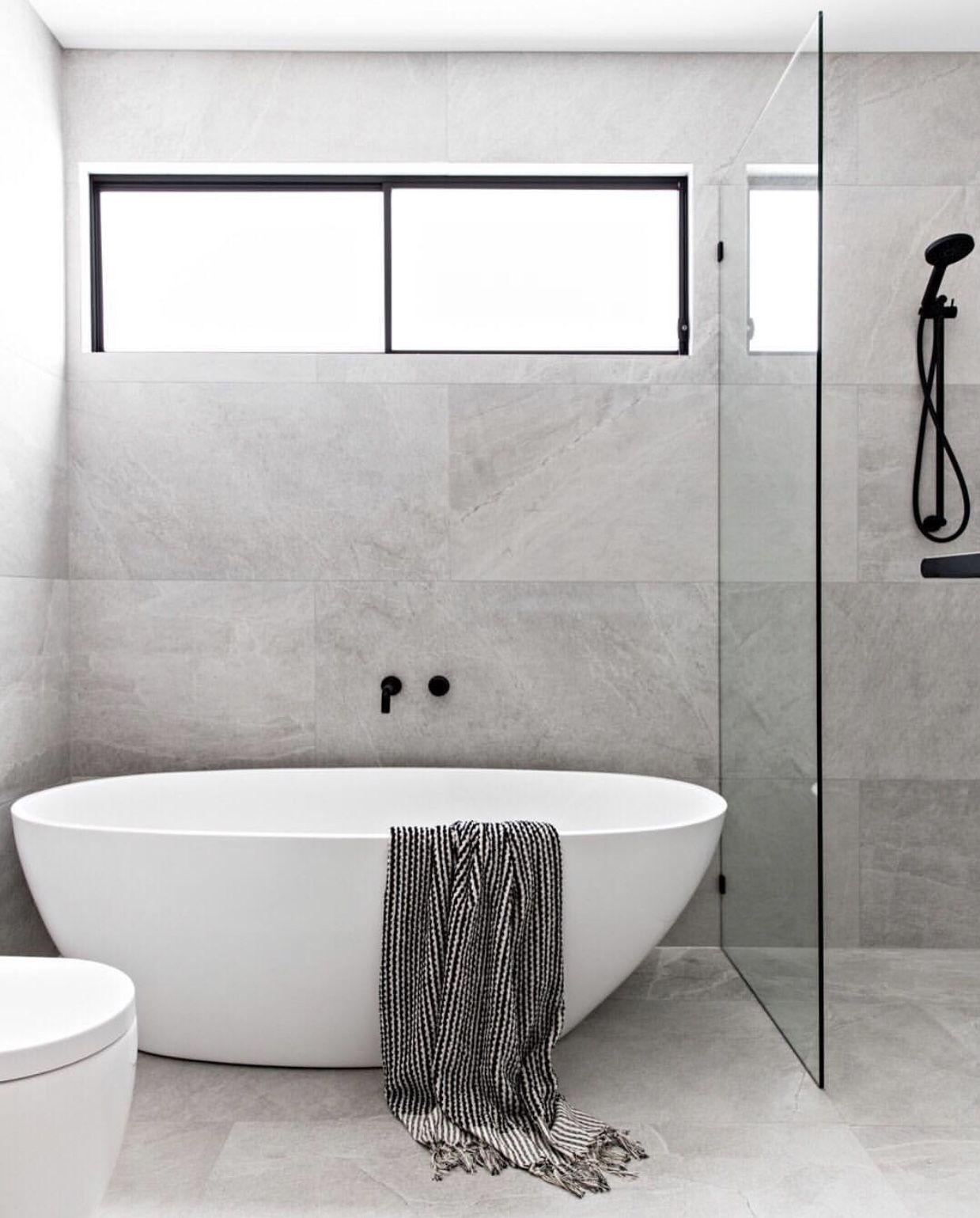46+ Grey bathroom freestanding bath trends