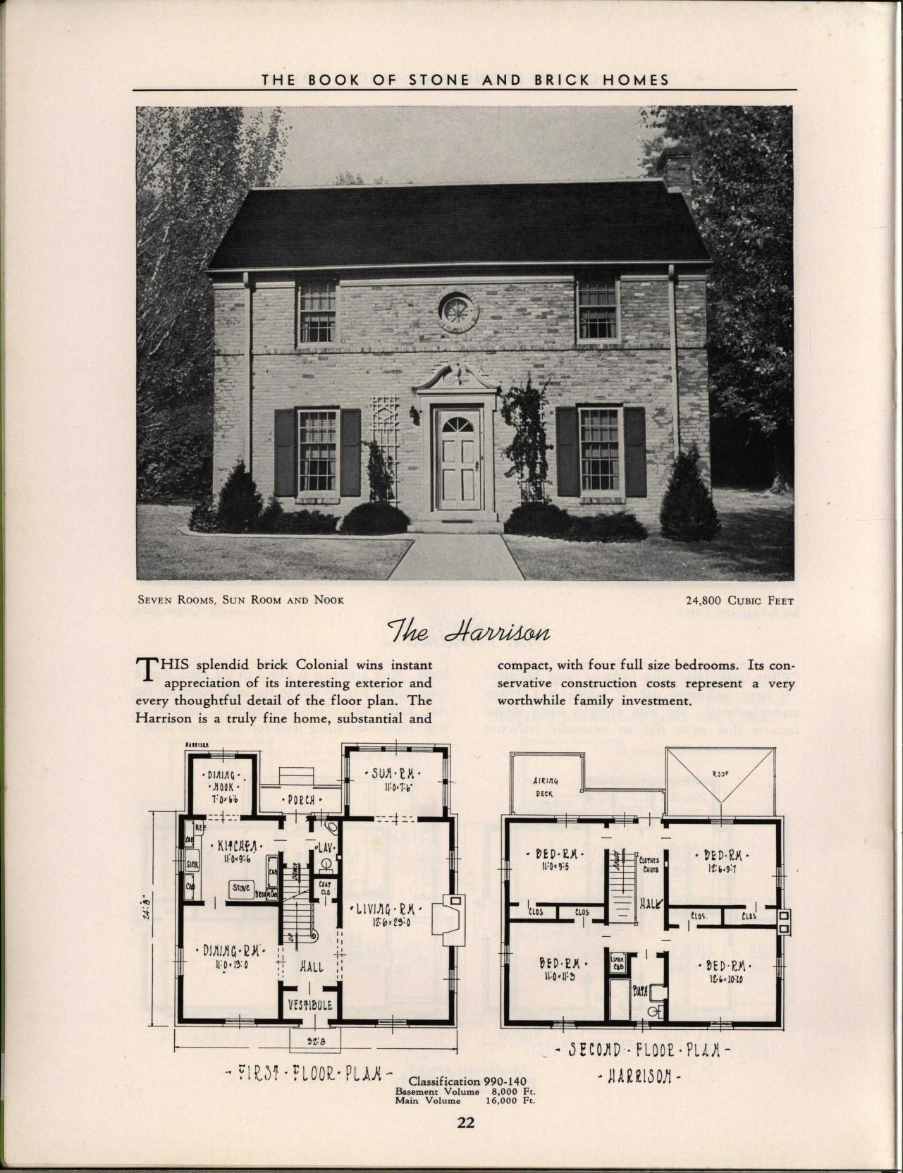 The Book Of Stone And Brick Homes Vintage House Plans Arch House Brick House