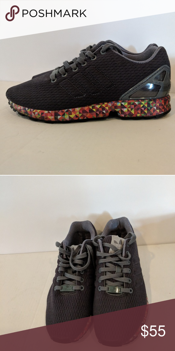 sale retailer f4c67 2289d Adidas•ZX Flux Torsion Rainbow Sneaker sz 8 Excellent used condition. Worn  once. Style  AF6306 adidas Shoes Sneakers