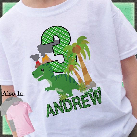 Free Personalization Girl/'s Dinosaur Birthday Shirt Any Age Dinosaur Birthday Shirt You Pick Colors Custom Dinosaur Birthday Shirt