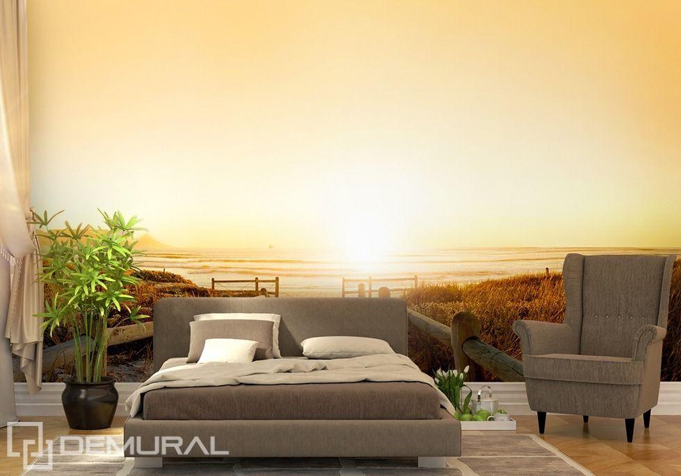 Foto #Tapete Sonnenuntergang am Horizont Fototapeten - fototapete für schlafzimmer