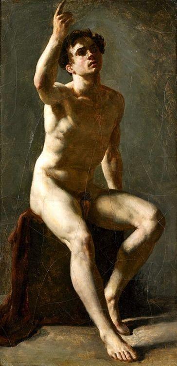 19thcenturyboyfriend:  Academie d'homme,Pierre-Narcisse Guérin