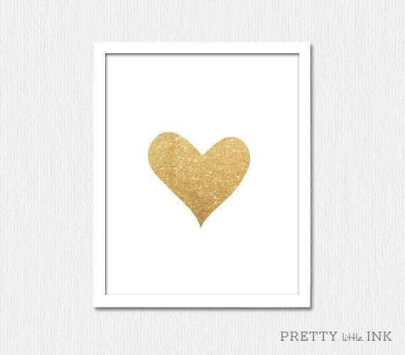 Hand Drawn Gold Heart