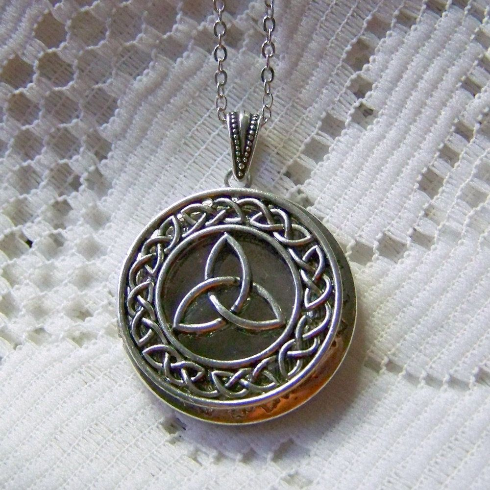 gift for necklace secret antique celtic vintage knot lockets pin locket