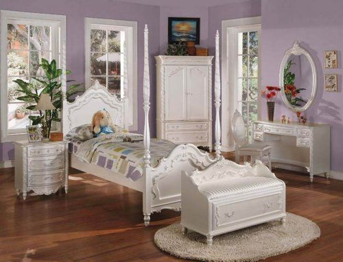A0995 Pearl Full Post Full Bed Bedroom Furniture Sets Vintage