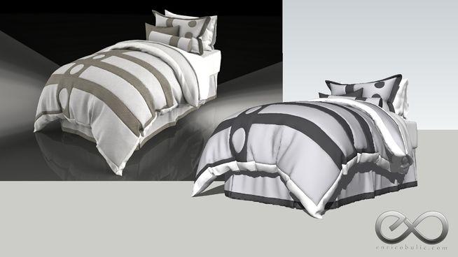 Single Bed Ensemble 3d Warehouse Bed Ensemble Bed Single Bed