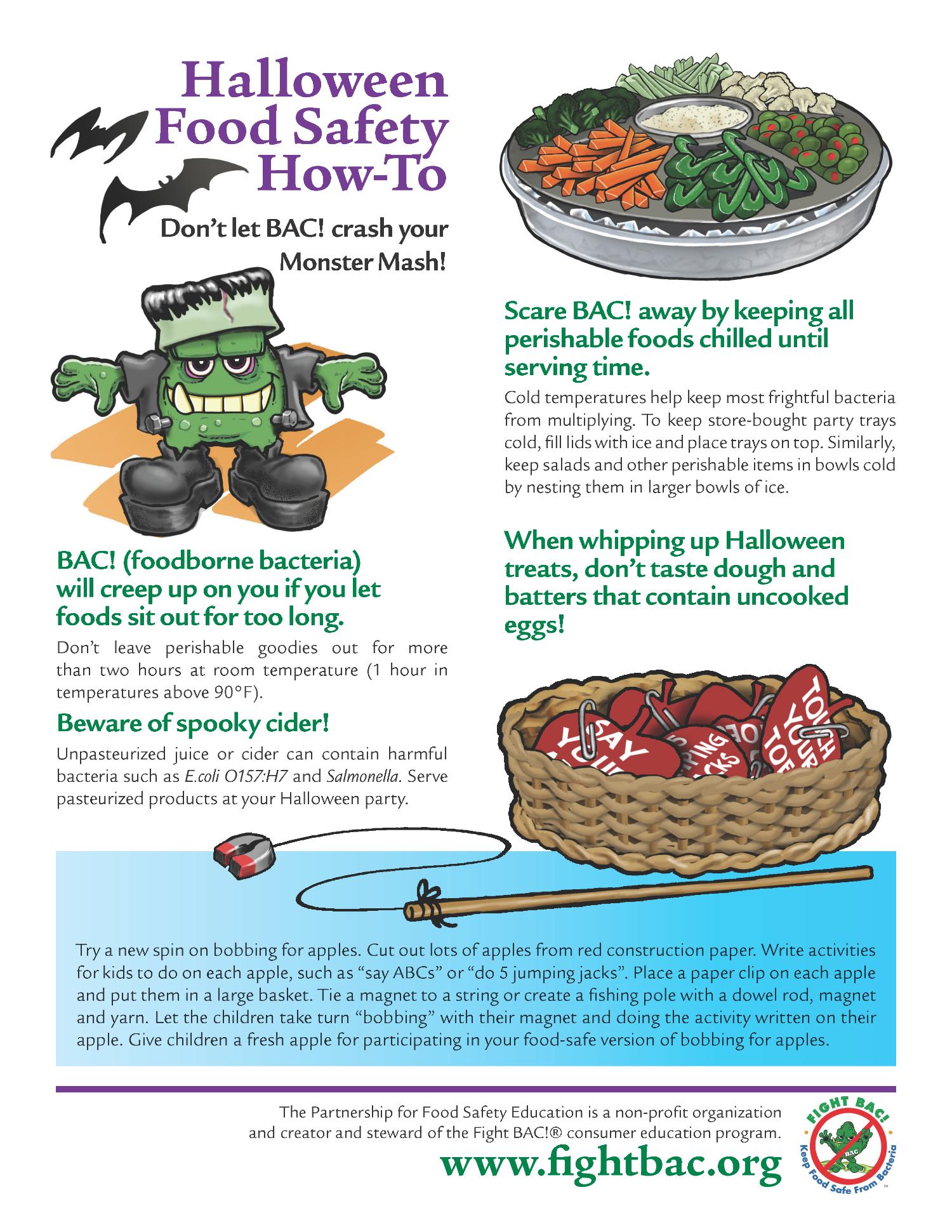 Halloween Food Safety Tips Ghtbac Safe