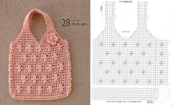 Crochet Bag  Diagram Only    U2600cq  Crochet  Crafts  Diy