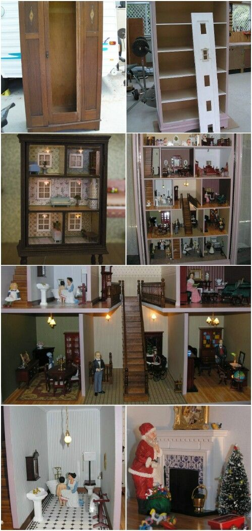 5 adorable ways to repurpose old dressers into dollhouses for Least expensive way to build a house