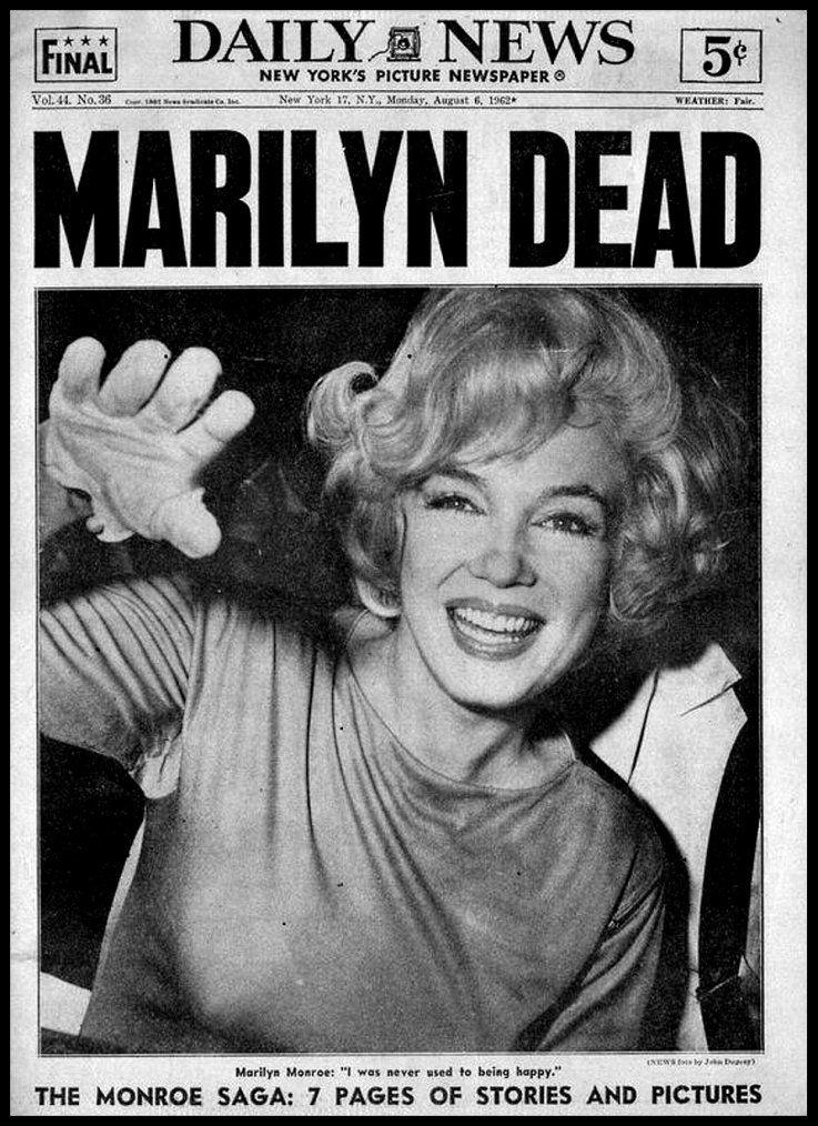 Marilyn Monroe Date Et Lieu De Décès : marilyn, monroe, décès, Épinglé