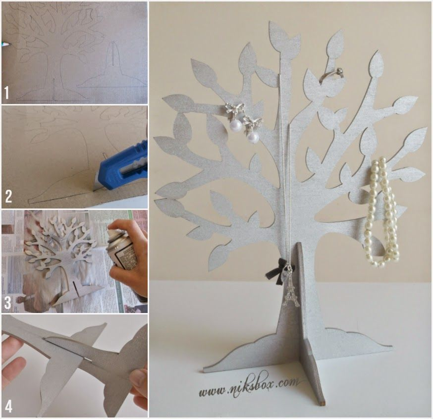 Niks Box DIY Jewelry Tree kszertart Fa kszertartk s
