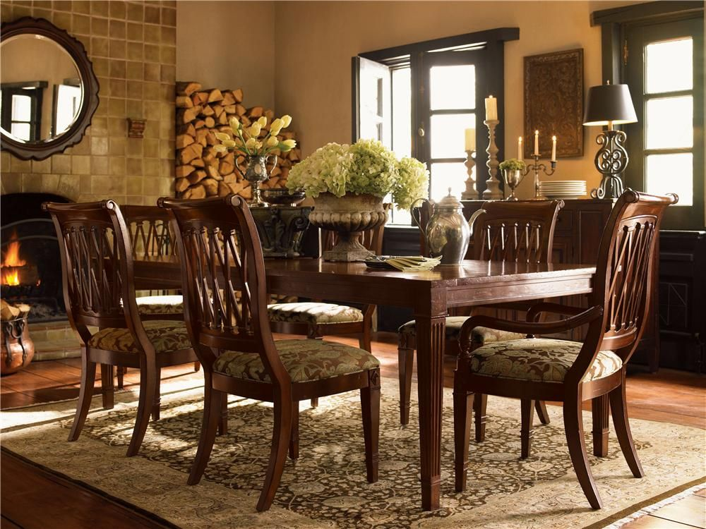 European Retreat 7 Piece Table And Chair Setdrexel Heritage Endearing Drexel Heritage Dining Room Review