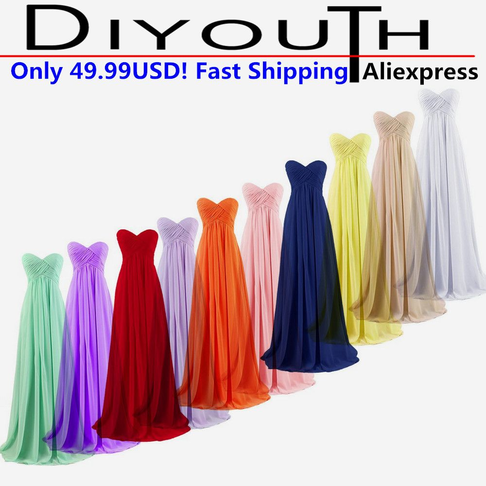 Women champagne party dresses long formal bridesmaid dress