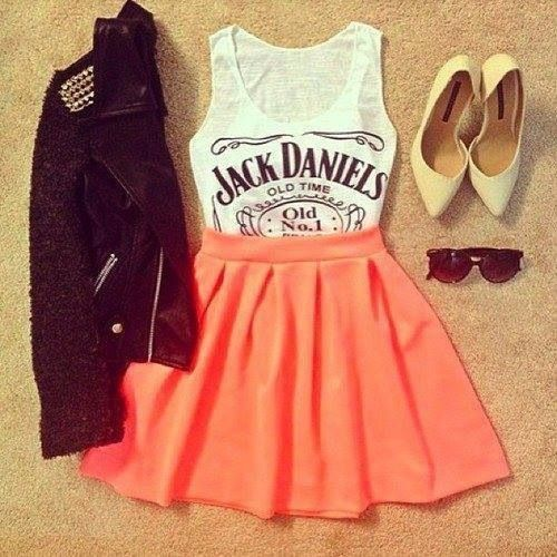 Skater Skirt + Graphic Tee