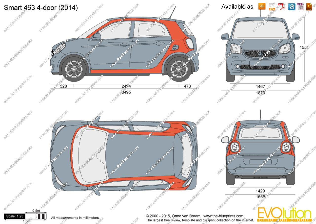 Smart Car 453 Dimensions And Weight Intoautos Image Results