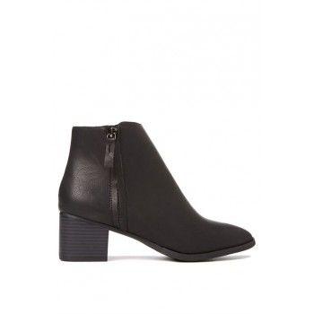 $25.00 (50% OFF) EMILY ZIP BOOT   Rubi   BLACK SMOOTH @ Cotton On - Bargain Bro