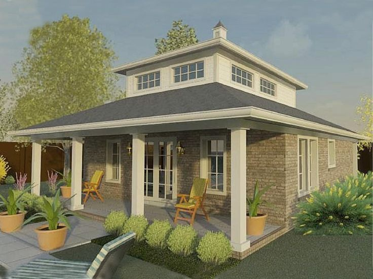 006p 0033 Pool House Plan With Living Quarters Pool House Plans