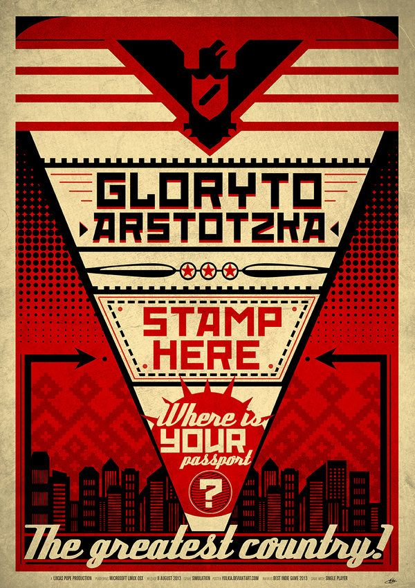 Papers Please Poster Indie Game Art Paper Video Game Posters