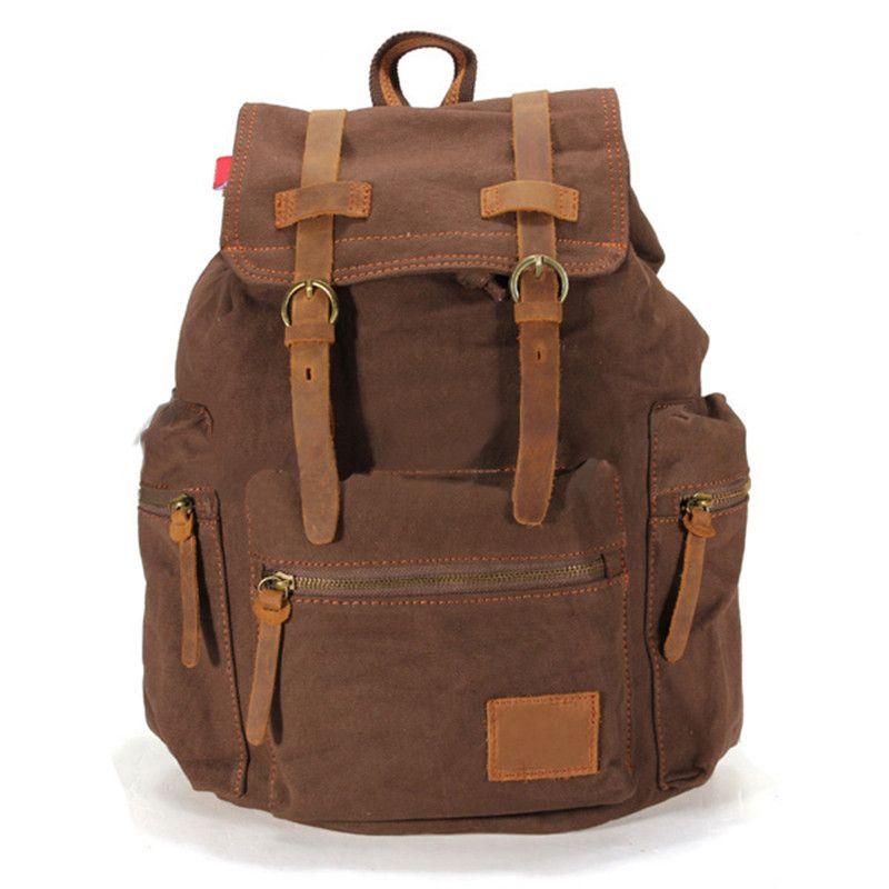 Fashion Mens Vintage Casual Canvas Shoulder Bag Travel Bag Backpack Bags Bookbag