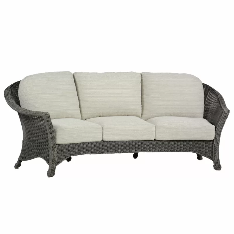Regent Curved Patio Sofa With Cushions
