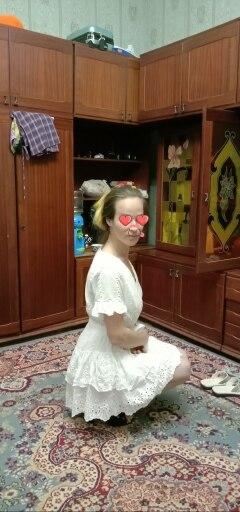 White Embroidery Cotton Dresses Summer Women Short Sleeve Casual Beach Sundress Sexy V Neck Hollow Out Mini Dress JKP2624 #shortsundress